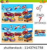 cartoon illustration of finding ... | Shutterstock .eps vector #1143741758