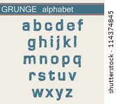 grunge alphabet | Shutterstock .eps vector #114374845
