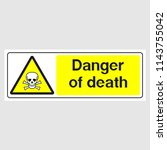 "plate  ""danger of death sign""... | Shutterstock .eps vector #1143755042"