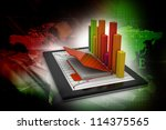 tablets with a bar graph | Shutterstock . vector #114375565