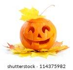 halloween pumpkin jack o... | Shutterstock . vector #114375982