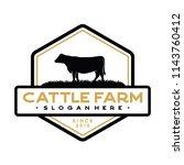 vintage cattle   beef logo... | Shutterstock .eps vector #1143760412