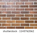 red brick wall background   Shutterstock . vector #1143762062