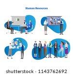 human resources vector... | Shutterstock .eps vector #1143762692