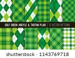 green argyle and tartan plaid... | Shutterstock .eps vector #1143769718