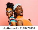 enjoying summer love  portrait ... | Shutterstock . vector #1143774818