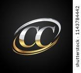 initial letter cc logotype... | Shutterstock .eps vector #1143784442