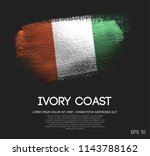 ivory coast flag made of... | Shutterstock .eps vector #1143788162