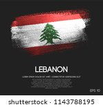 lebanon flag made of glitter... | Shutterstock .eps vector #1143788195