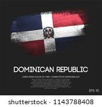 dominican republic flag made of ... | Shutterstock .eps vector #1143788408