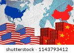concept image of  usa china... | Shutterstock . vector #1143793412