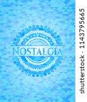 nostalgia realistic light blue... | Shutterstock .eps vector #1143795665