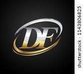 initial letter df logotype... | Shutterstock .eps vector #1143806825