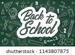 text back to school.various... | Shutterstock .eps vector #1143807875