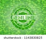 genuine green emblem. mosaic... | Shutterstock .eps vector #1143830825