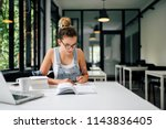 preparing for the exam. | Shutterstock . vector #1143836405