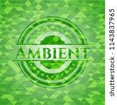 ambient green mosaic emblem | Shutterstock .eps vector #1143837965