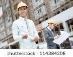 professional supervisors... | Shutterstock . vector #114384208