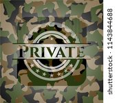 private written on a camouflage ...   Shutterstock .eps vector #1143844688