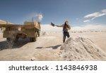 salar de uyuni is the world's... | Shutterstock . vector #1143846938