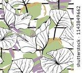 tropical  modern stripes motif. ... | Shutterstock .eps vector #1143849662