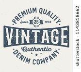 premium quality denim company   ...   Shutterstock .eps vector #1143858662