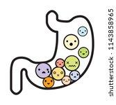 vector illustration of stomach... | Shutterstock .eps vector #1143858965