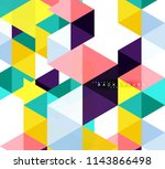 multicolored triangles abstract ... | Shutterstock .eps vector #1143866498