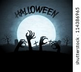 eps 10 halloween background... | Shutterstock .eps vector #114386965