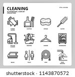 cleaning icon set | Shutterstock .eps vector #1143870572