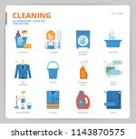 cleaning icon set | Shutterstock .eps vector #1143870575
