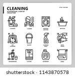 cleaning icon set | Shutterstock .eps vector #1143870578