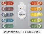 10 steps infographics element... | Shutterstock .eps vector #1143876458