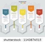 5 steps timeline infographic...   Shutterstock .eps vector #1143876515