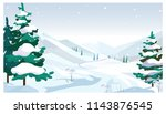 winter fields with falling snow ... | Shutterstock .eps vector #1143876545