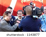 los angeles camera man with... | Shutterstock . vector #1143877