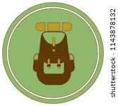 backpack icon illustration...   Shutterstock .eps vector #1143878132