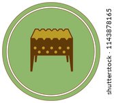 camping brazier icon. vector... | Shutterstock .eps vector #1143878165