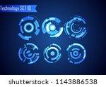 set of circle abstract digital...