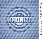 genuine blue emblem with... | Shutterstock .eps vector #1143895205
