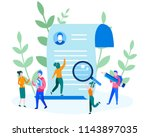 human resources  recruitment... | Shutterstock .eps vector #1143897035