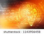 bulb future technology ...   Shutterstock . vector #1143906458