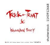 happy halloween   hand drawn... | Shutterstock .eps vector #1143912668