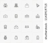 bags line icon set with check... | Shutterstock .eps vector #1143919715