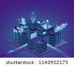 smart city of high technology.... | Shutterstock .eps vector #1143922175