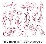 calligraphic elegant elements... | Shutterstock .eps vector #1143930068