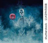 the phantom basketball player   ... | Shutterstock . vector #1143945008