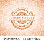 genuine product orange mosaic... | Shutterstock .eps vector #1143947822