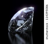 shiny diamond on black... | Shutterstock . vector #114395086