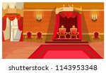 red royal thrones in palace... | Shutterstock .eps vector #1143953348